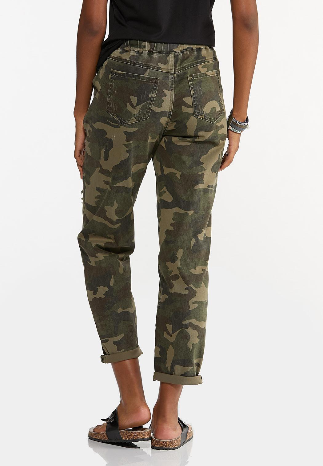 Distressed Camo Pants (Item #44576983)
