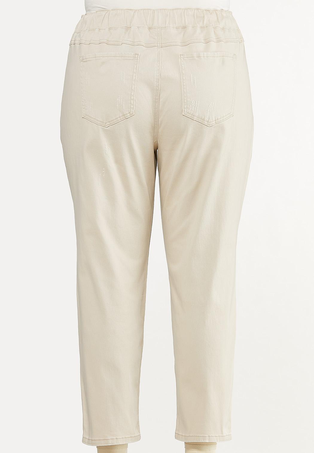 Plus Size Khaki Twill Pants (Item #44577032)
