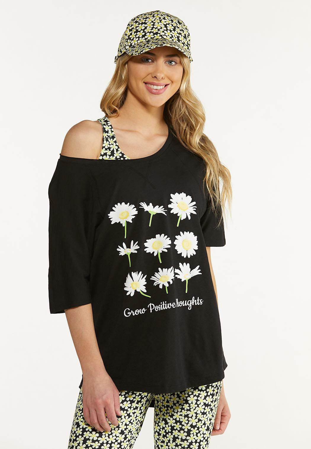 Plus Size Grow Positive Thoughts Tee (Item #44577502)