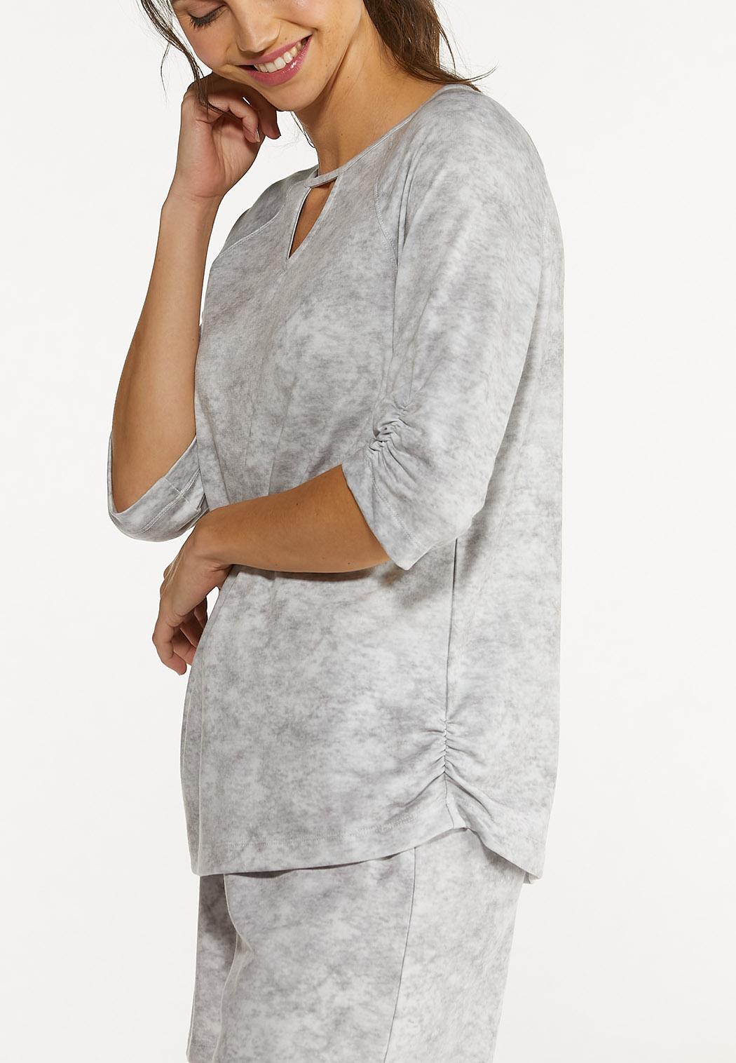 Gray Tie Dye Top (Item #44577513)