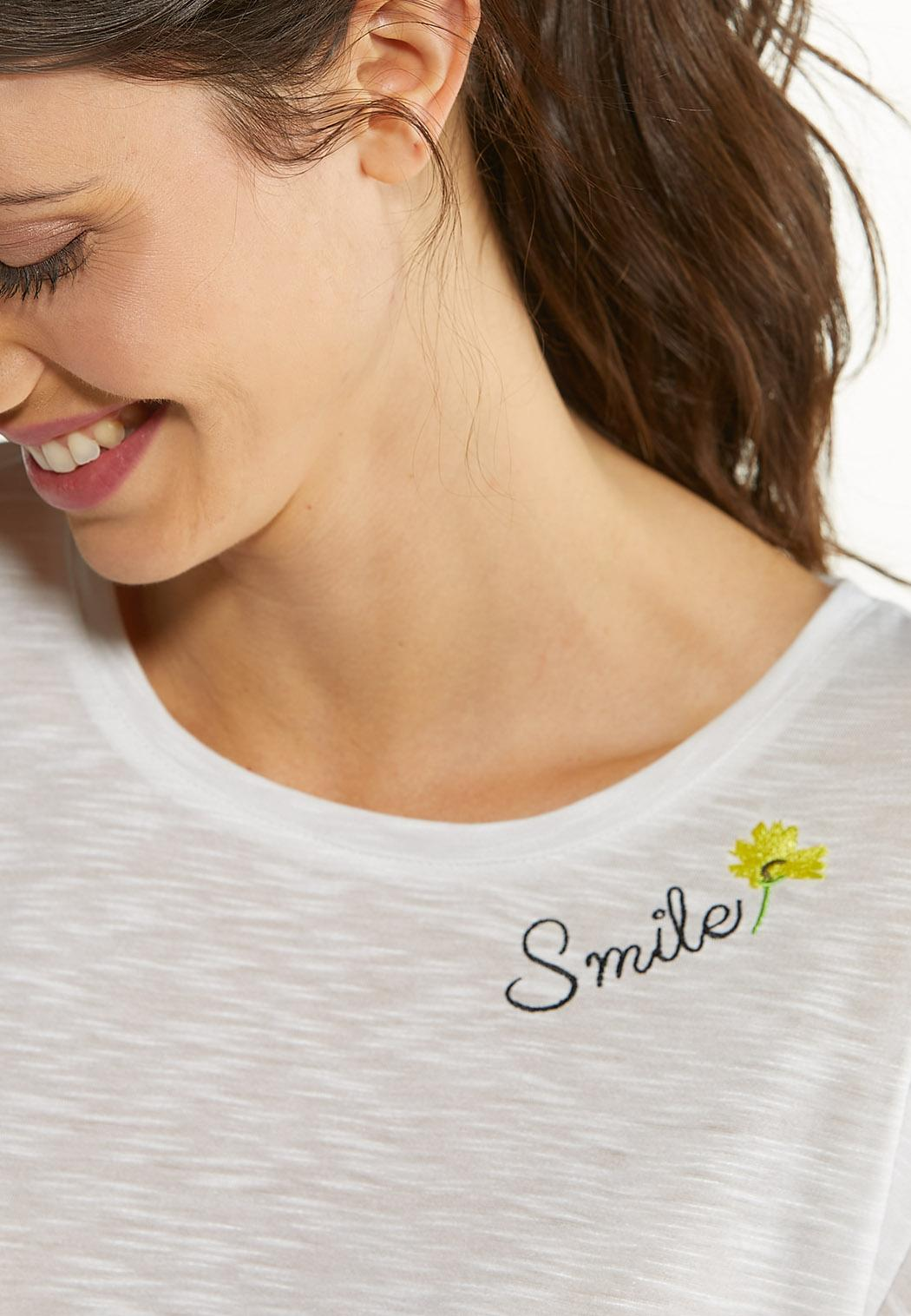 Plus Size Smile Twisted Tee (Item #44577569)