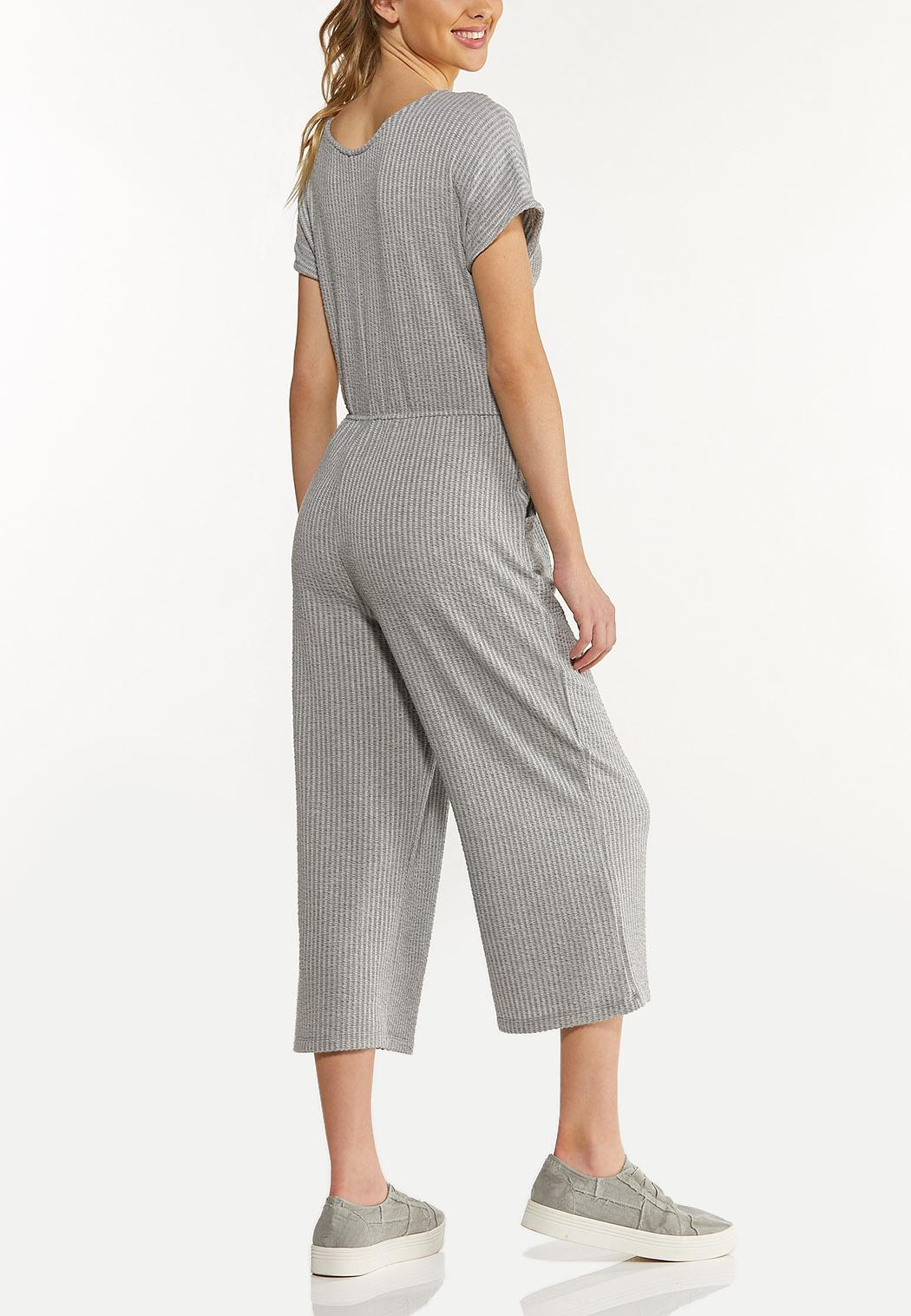Cropped Ribbed Jumpsuit (Item #44577806)