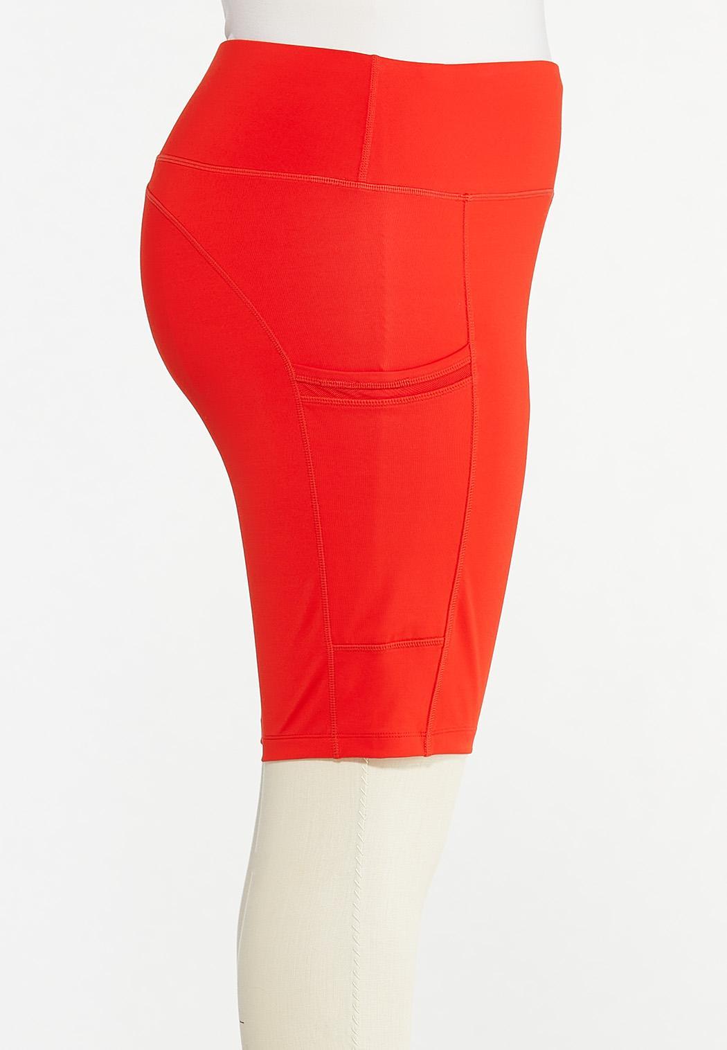 Plus Size Solid Biker Shorts (Item #44577844)
