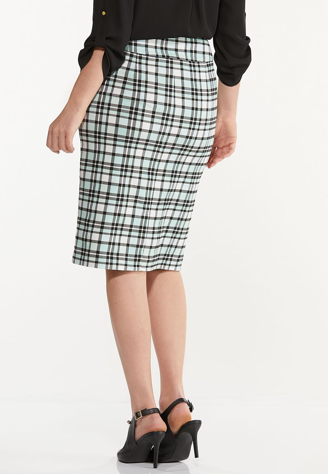 Plaid Pencil Skirt (Item #44578251)
