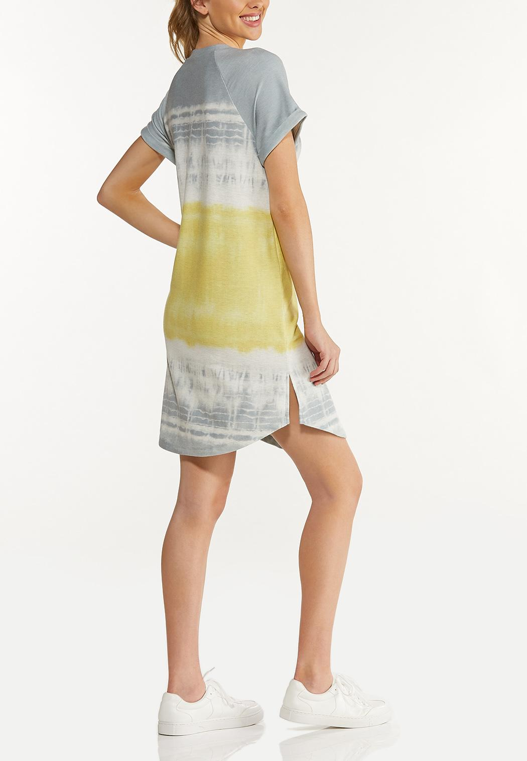 Plus Size Dip Dye French Terry Dress (Item #44578567)
