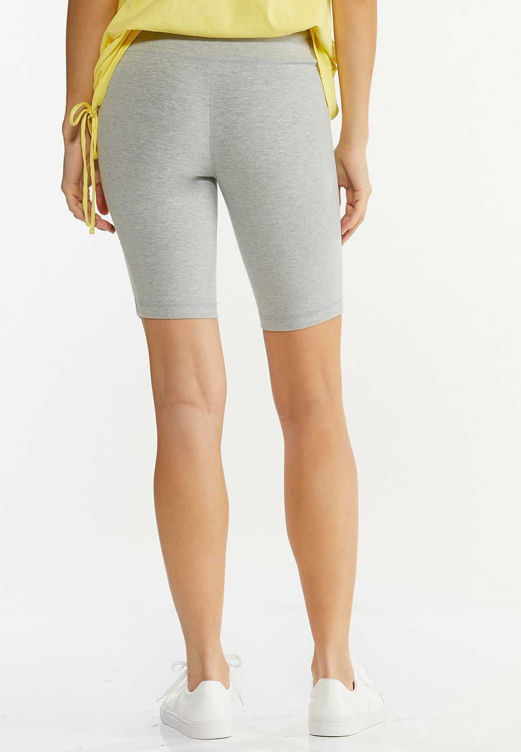 Heather Gray Biker Shorts (Item #44578656)