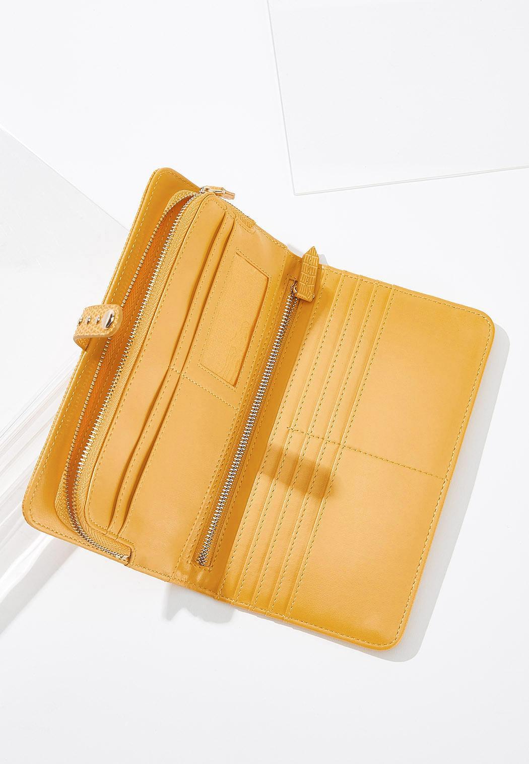Faux Leather Golden Wristlet (Item #44578932)