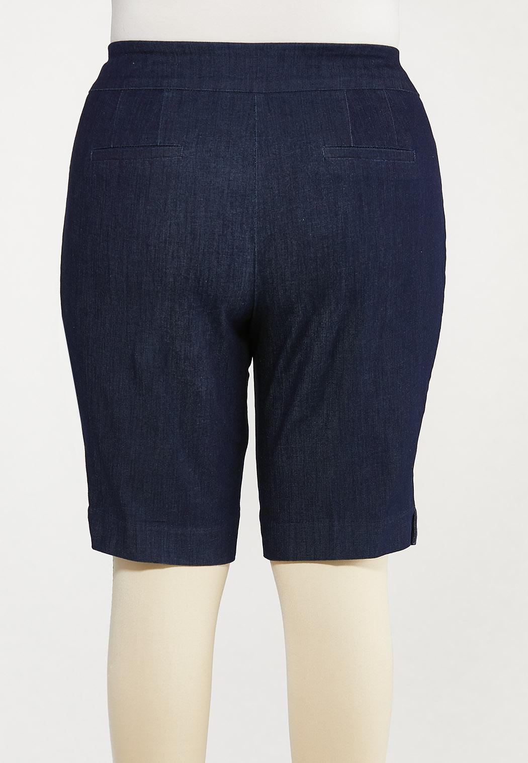 Plus Size Denim Burmuda Shorts (Item #44578998)