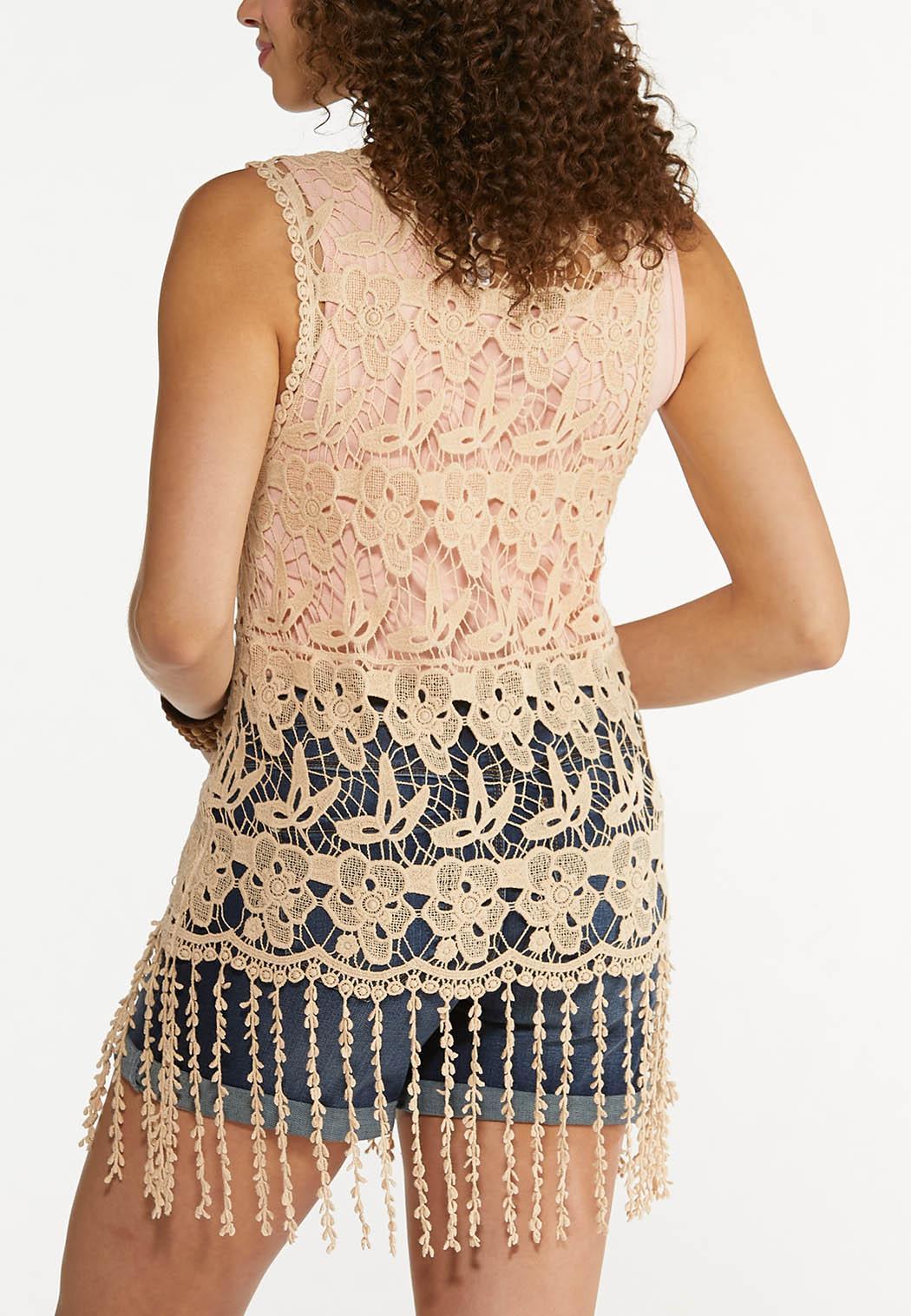 Fringe Crochet Vest (Item #44579168)