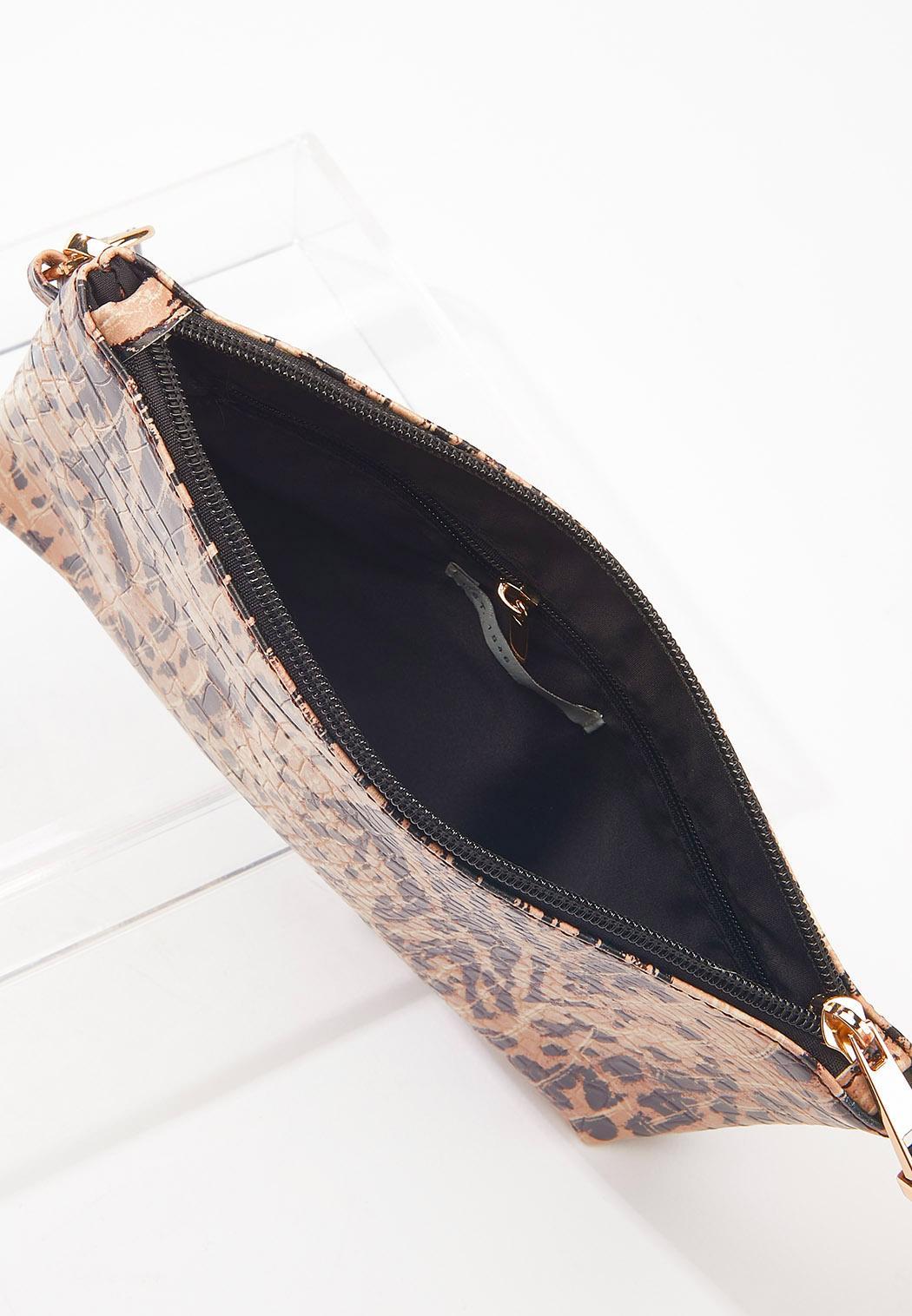 Leopard Croc Bag-In-Bag Tote (Item #44579337)