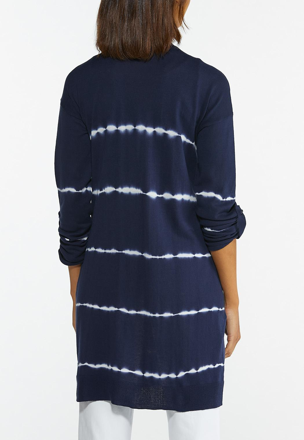Plus Size Tie Dye Cardigan (Item #44580002)