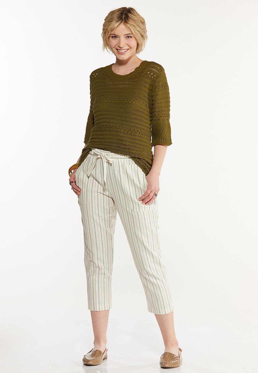 Olive Open Stitch Sweater (Item #44580065)