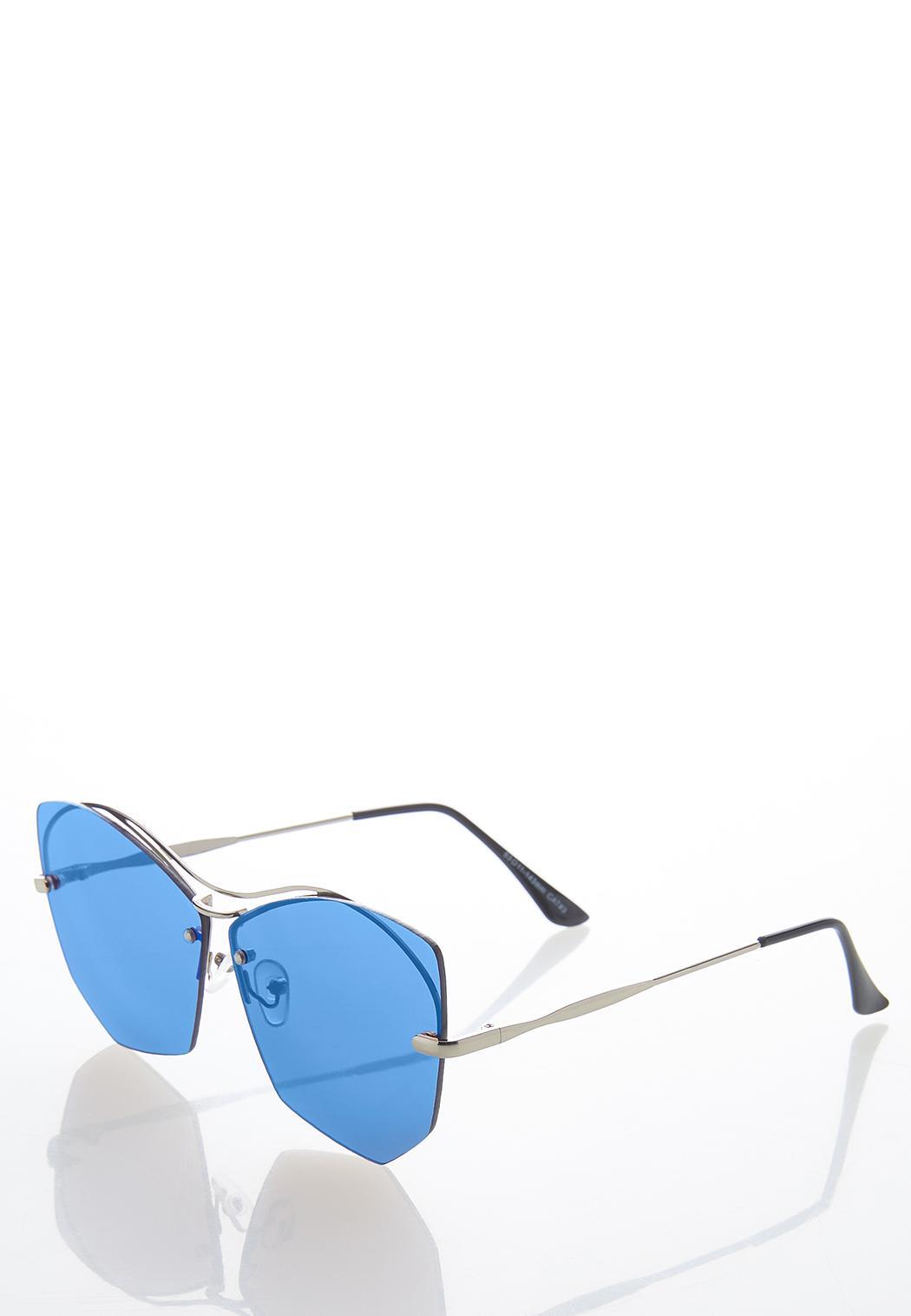 Geo Blue Lens Sunglasses (Item #44580111)