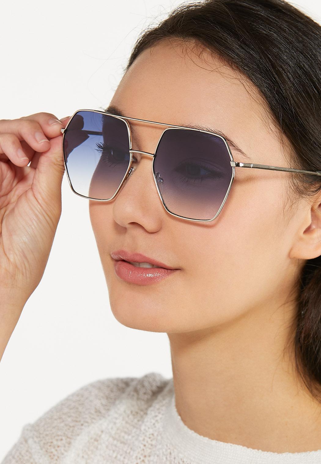 Hexagon Aviator Sunglasses (Item #44580125)