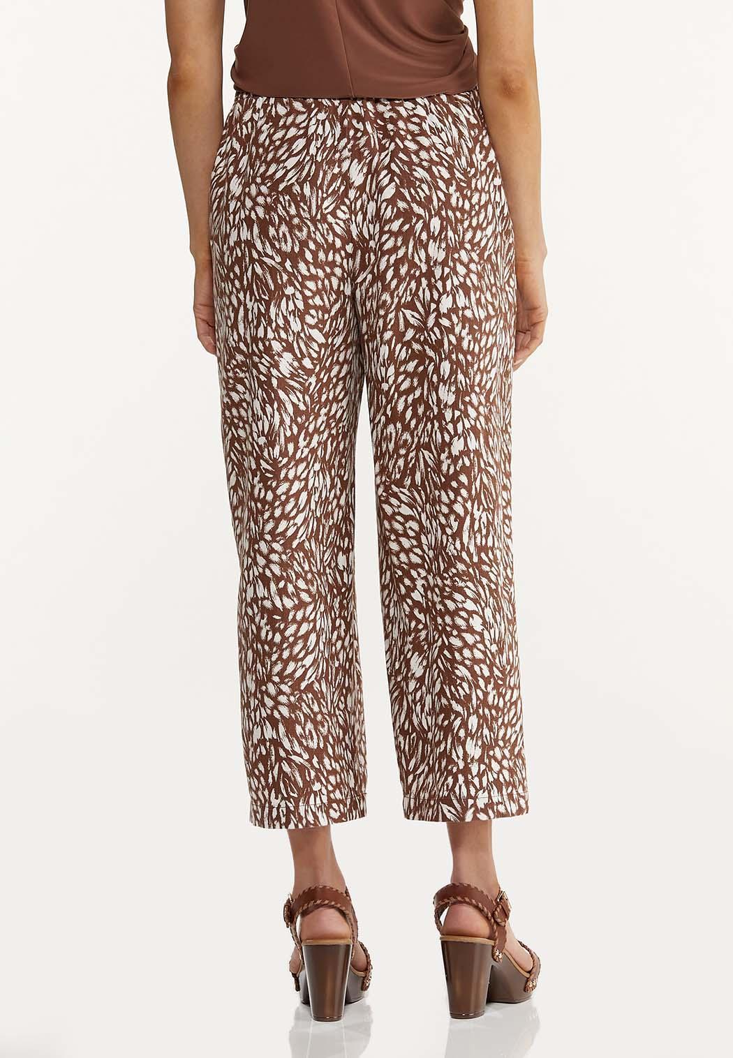 Cropped Brush Stroke Linen Pants (Item #44580170)