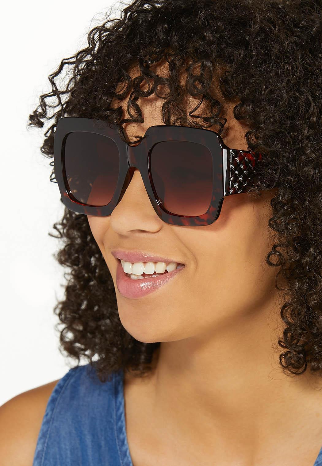 Oversized Square Tortoise Sunglasses (Item #44580227)