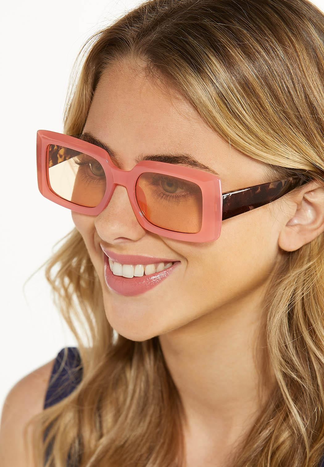 Pink Tortoise Square Sunglasses (Item #44580235)