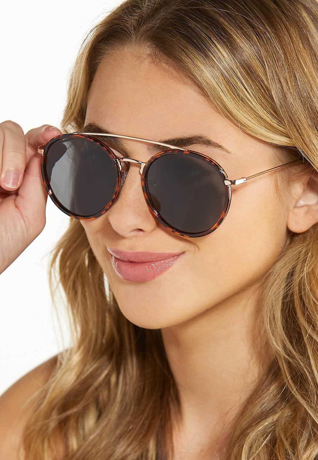 Tort Trim Round Sunglasses (Item #44580493)