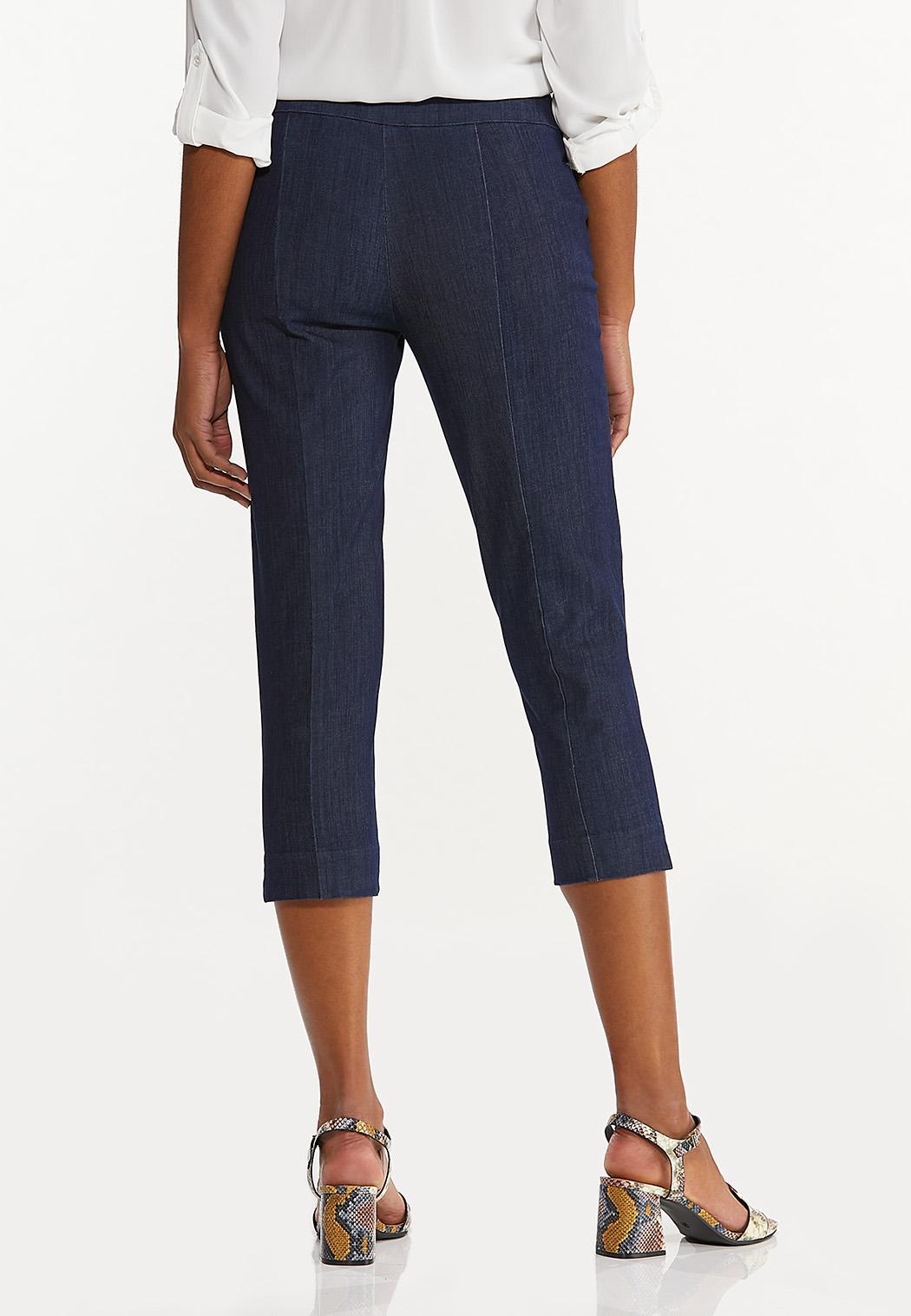 Cropped Dressy Denim Pants (Item #44580506)