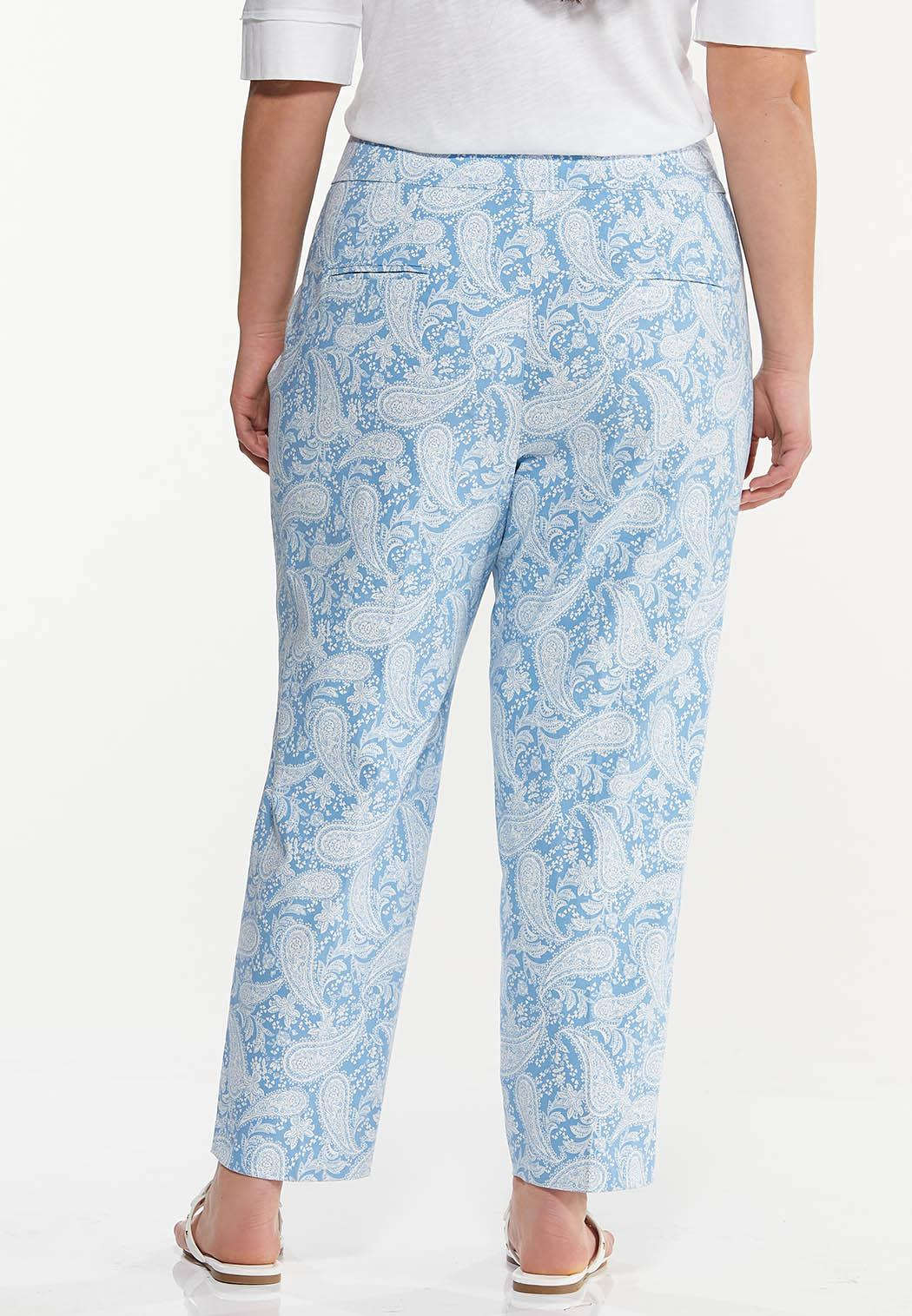 Plus Size Paisley Bengaline Pants (Item #44580875)