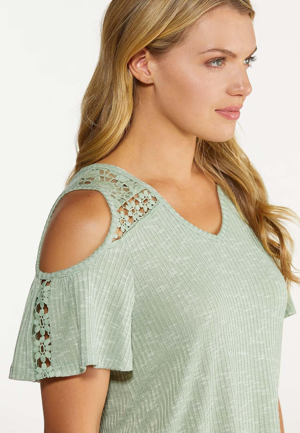 Lace Cold Shoulder Top (Item #44581689)