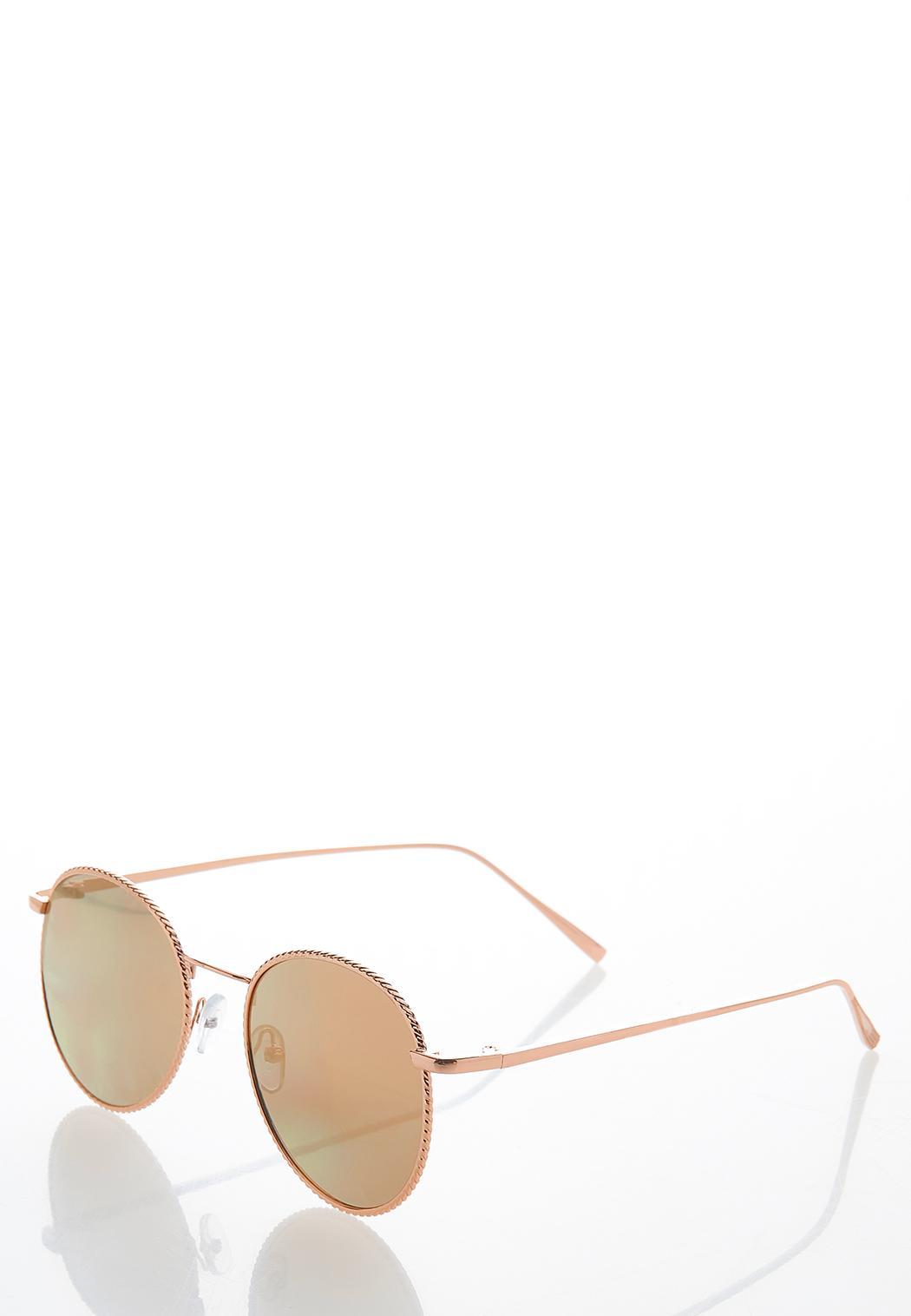 Mirrored Rose Gold Sunglasses (Item #44582189)