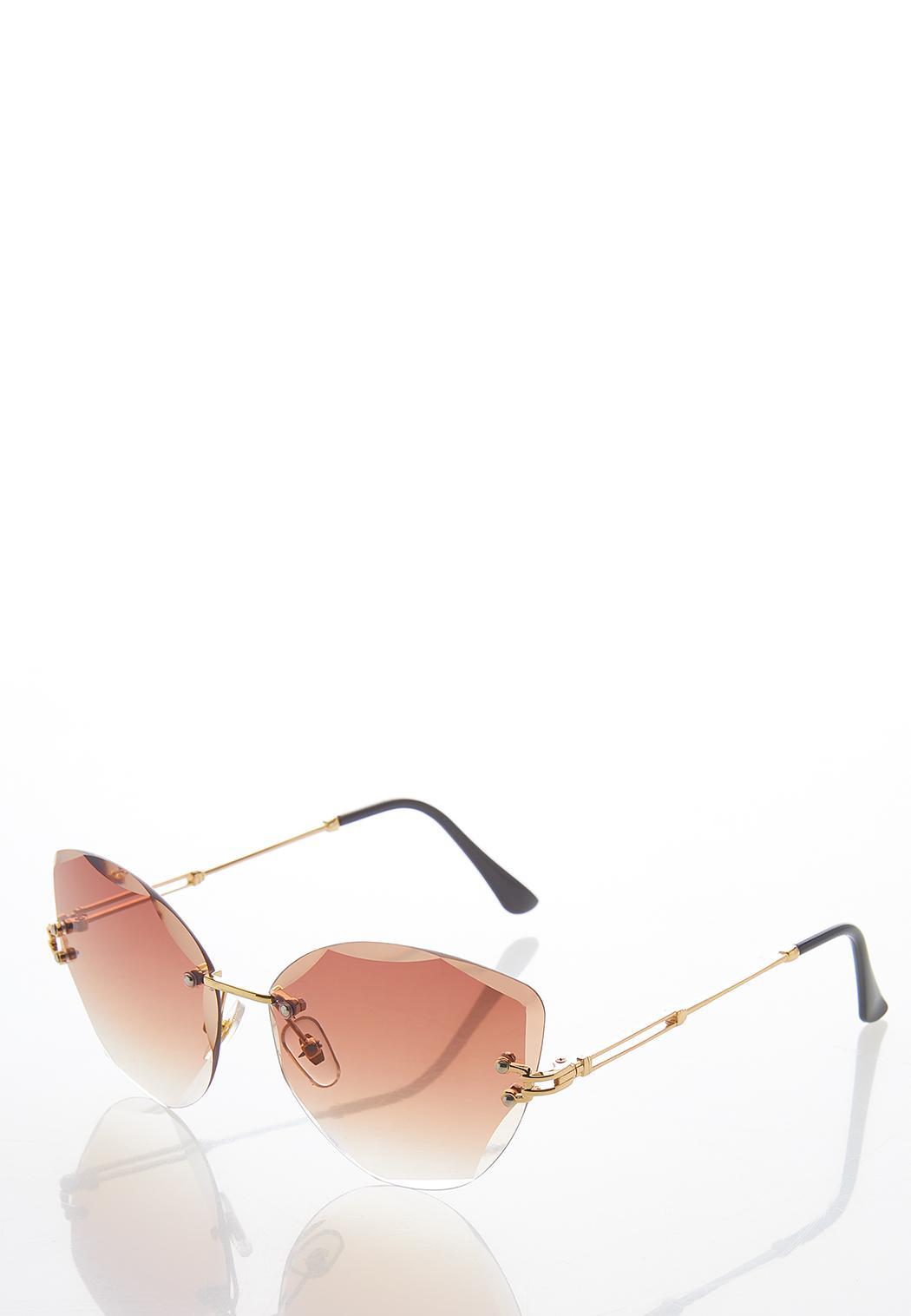 Beveled Rimless Sunglasses (Item #44582215)