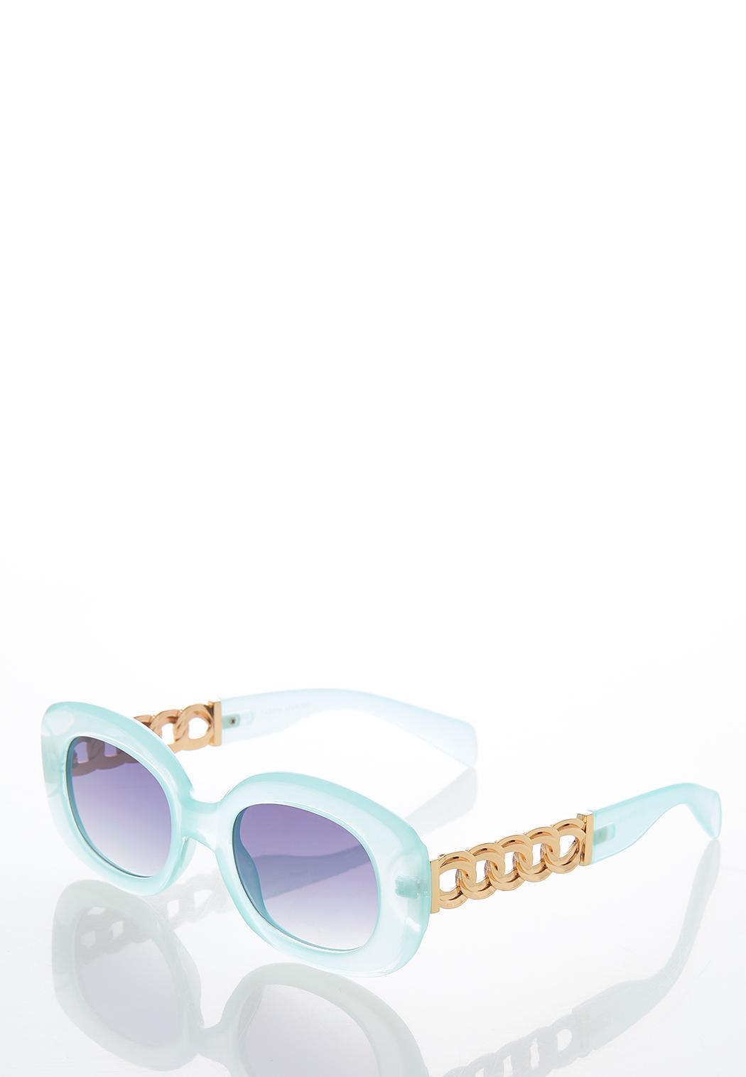 Blue Oval Sunglasses (Item #44582326)