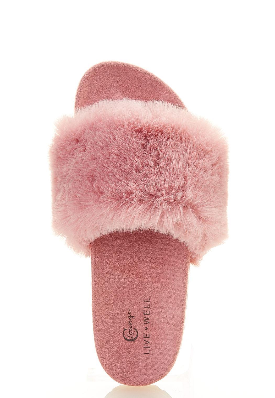 Fur Band Slide Sandals (Item #44583452)