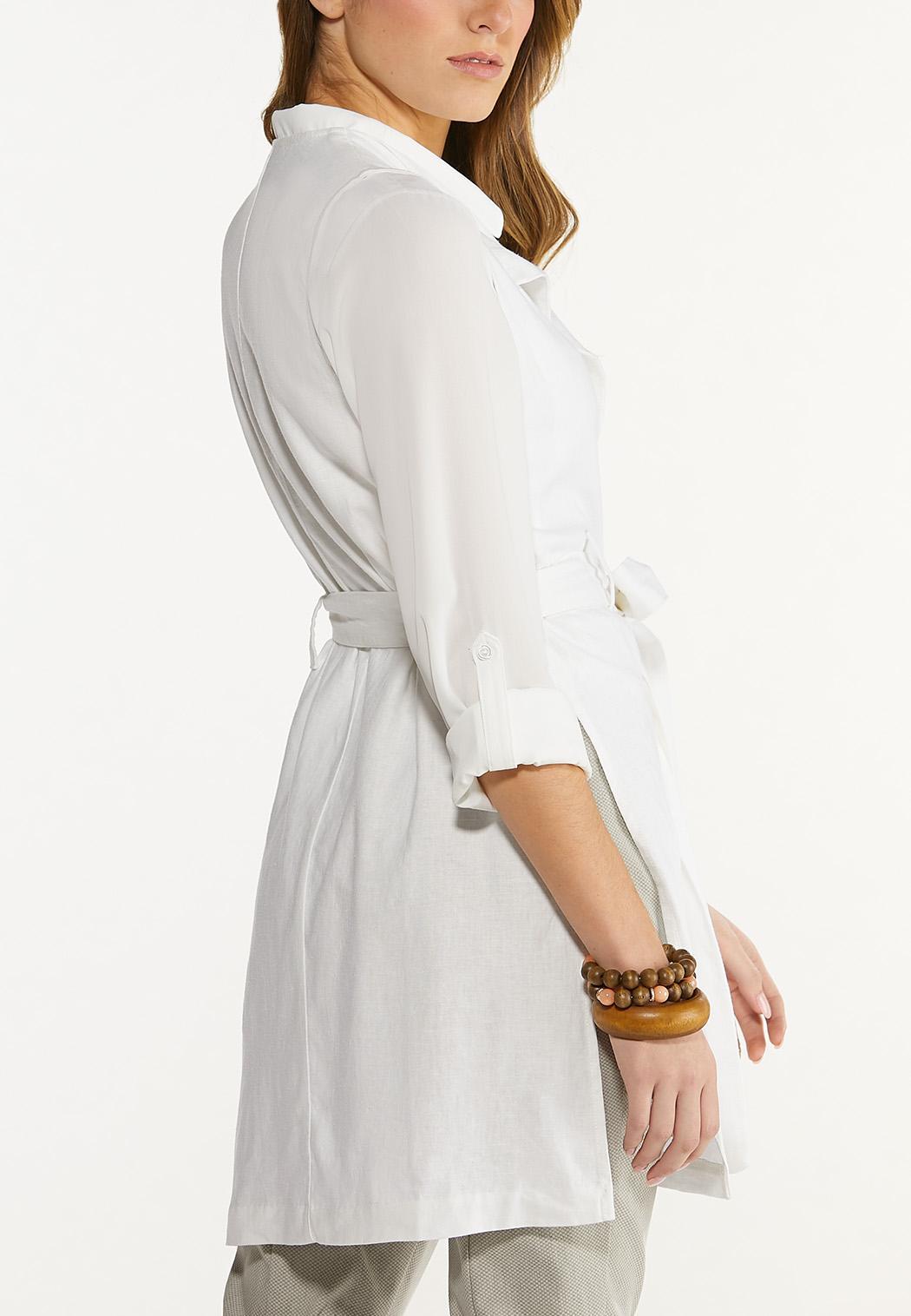 Belted Linen Vest (Item #44584966)
