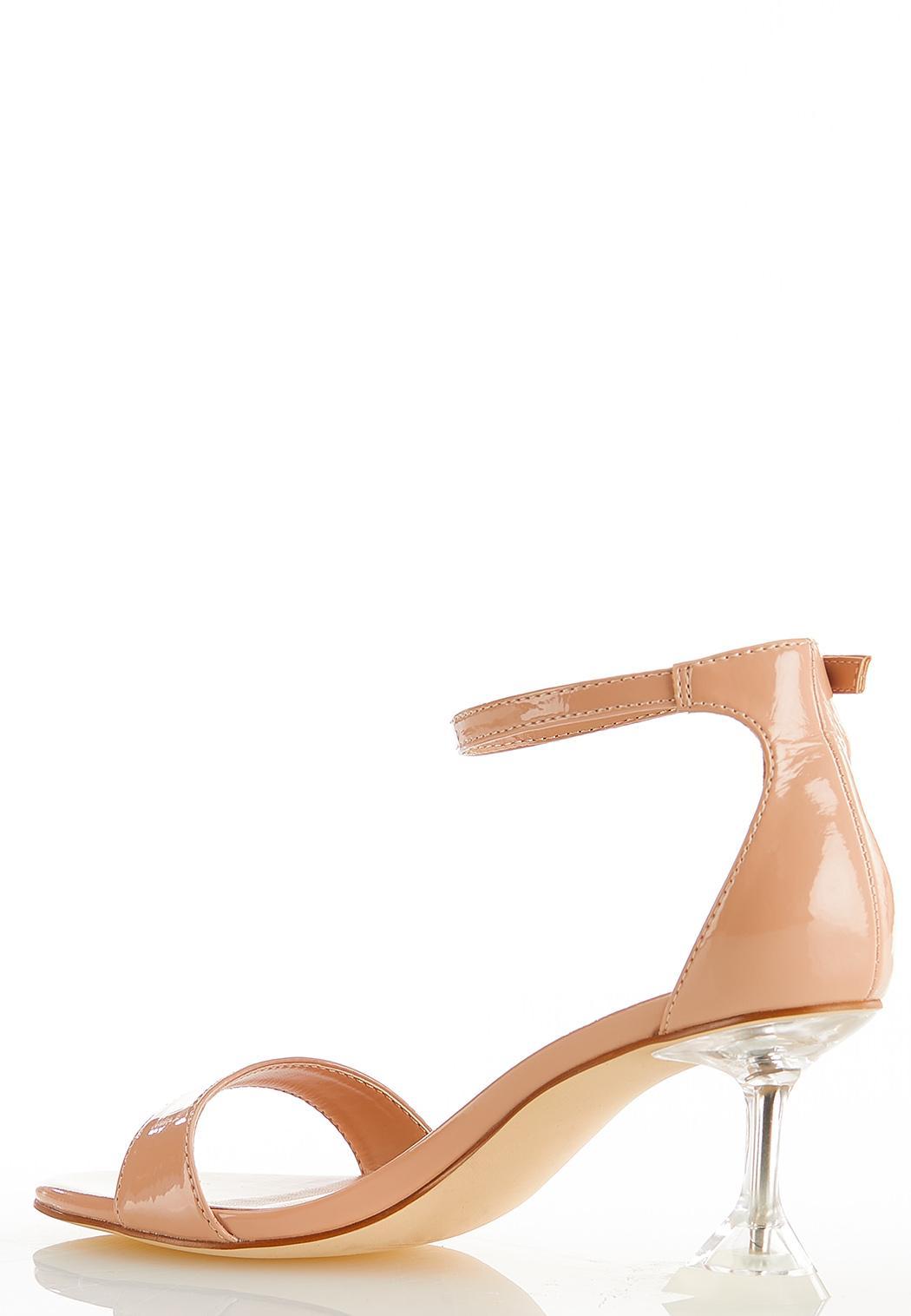 Patent Lucite Heel Sandals (Item #44585038)