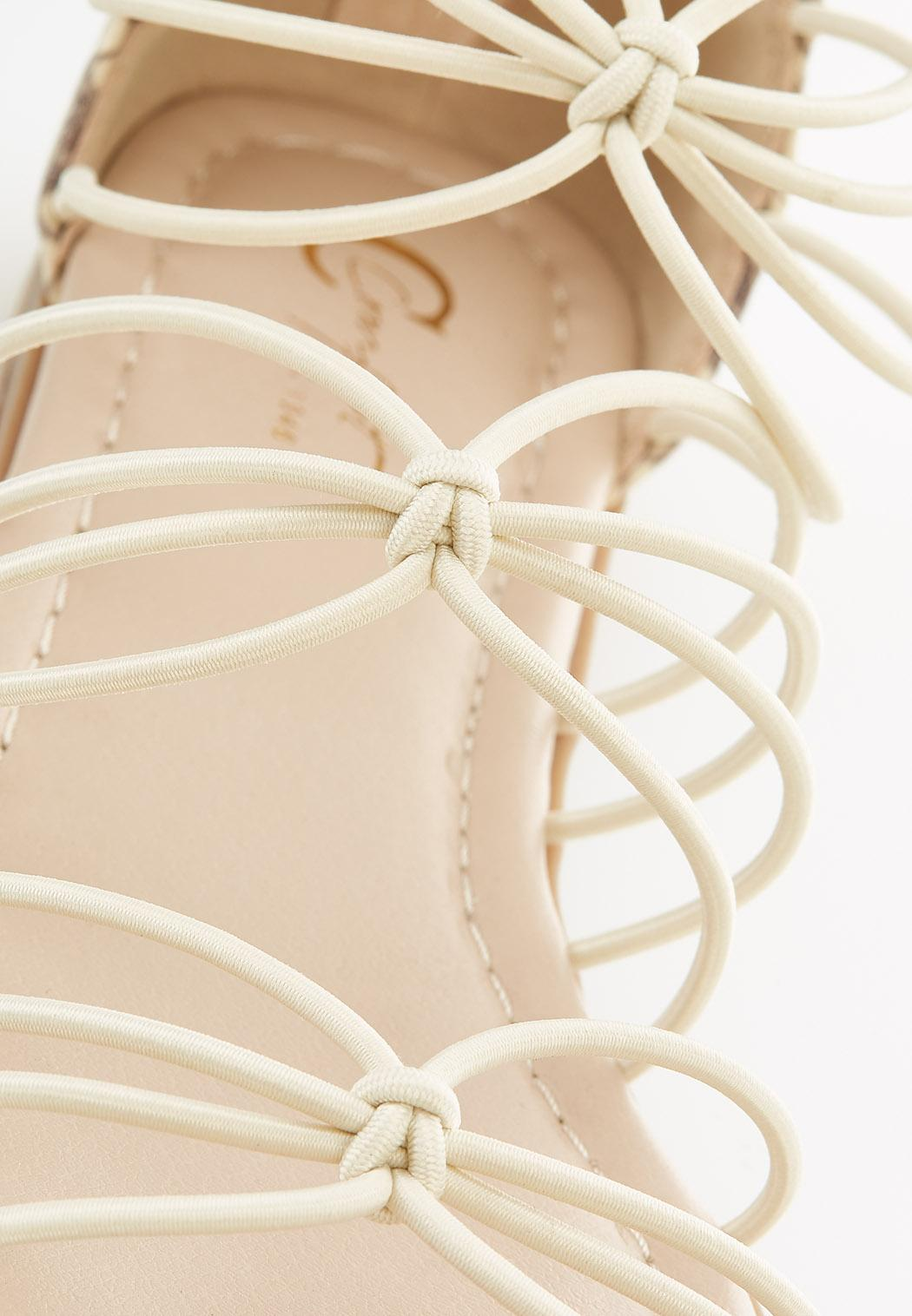 Snakeskin Heel Gladiator Sandals (Item #44585135)