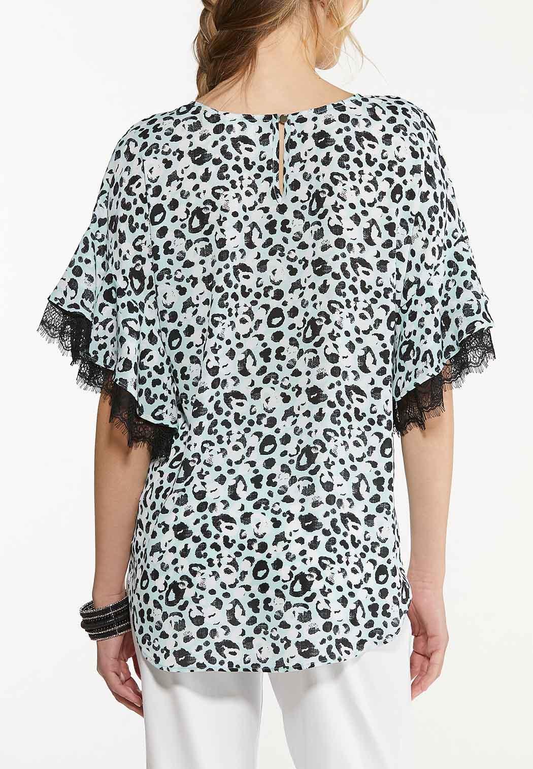 Leopard Lace Trim Top (Item #44586365)