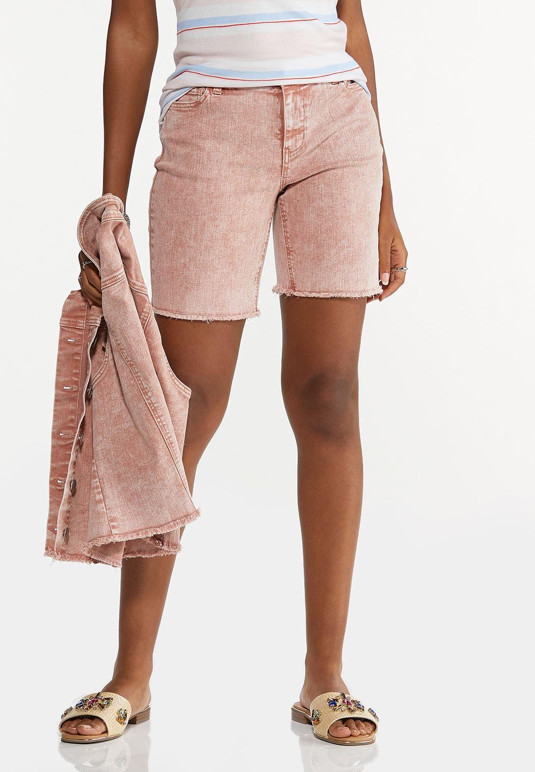 Rose Denim Shorts (Item #44587754)