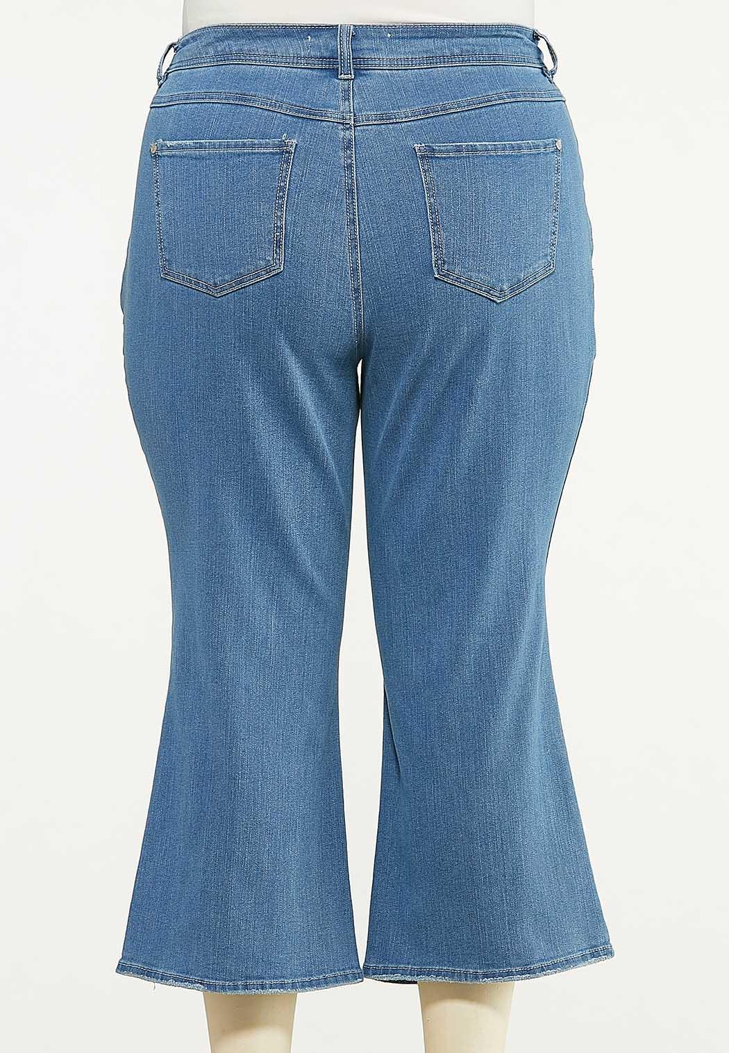 Plus Size Cropped Flare Jeans (Item #44588093)