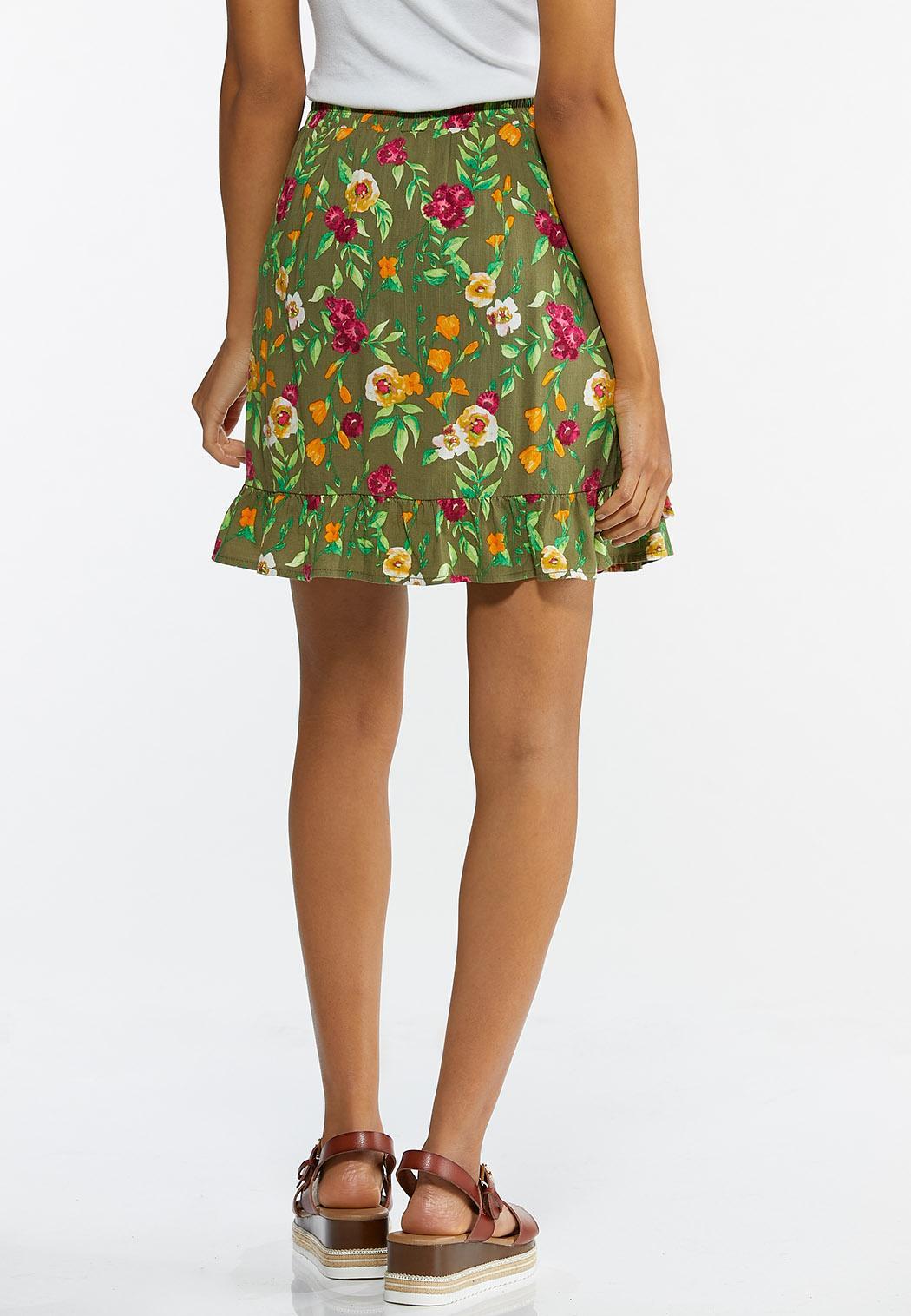 Olive Floral Skort (Item #44588249)