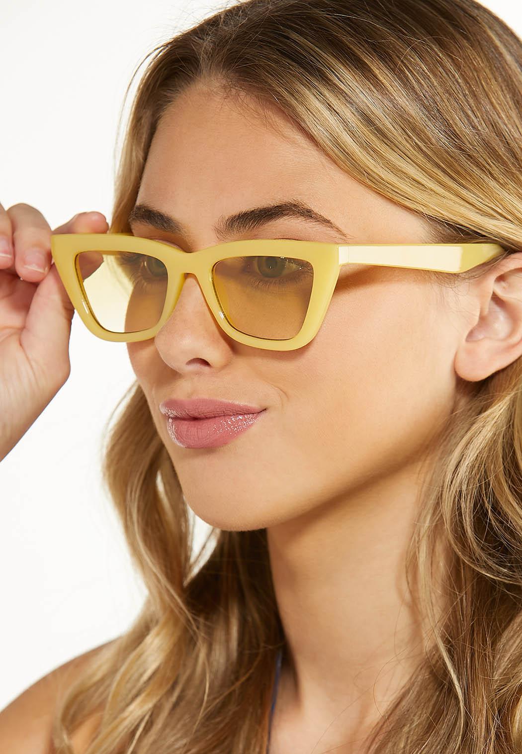 Yellow Cat Eye Sunglasses (Item #44588370)