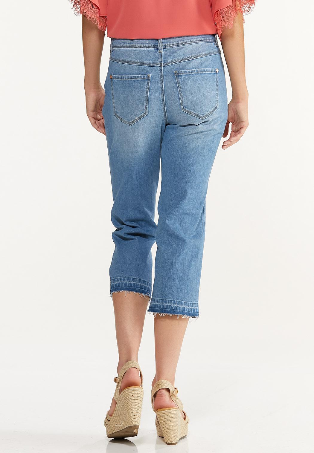 Cropped Release Hem Jeans (Item #44589318)