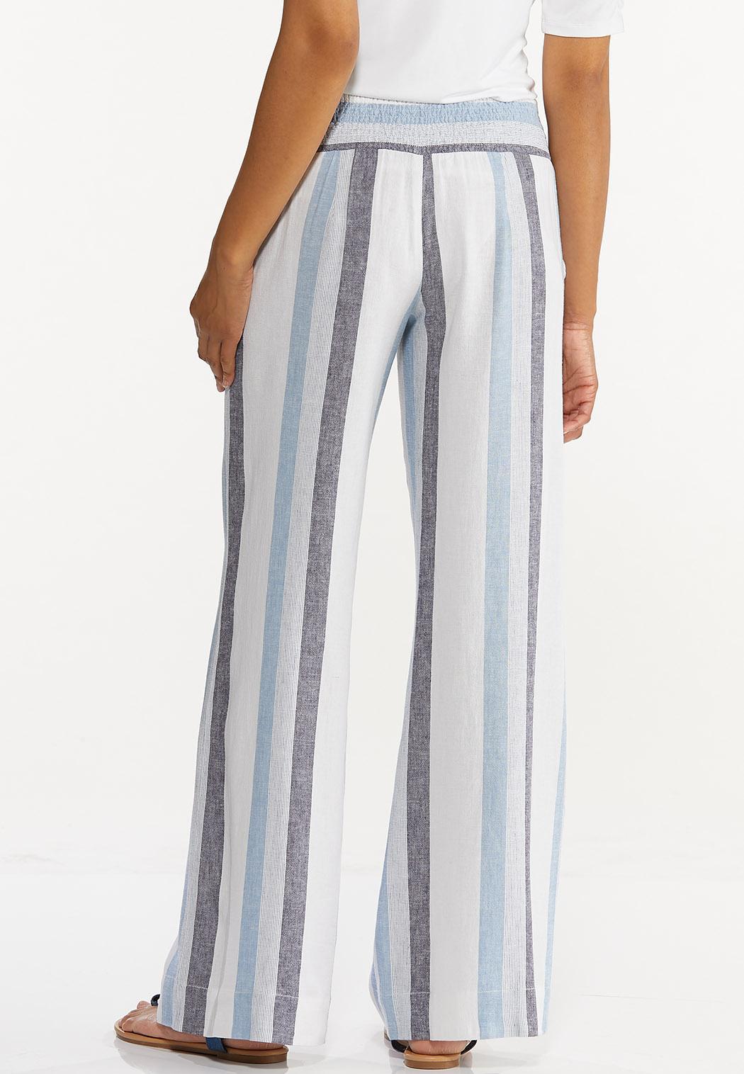 Striped Linen Palazzo Pants (Item #44589622)