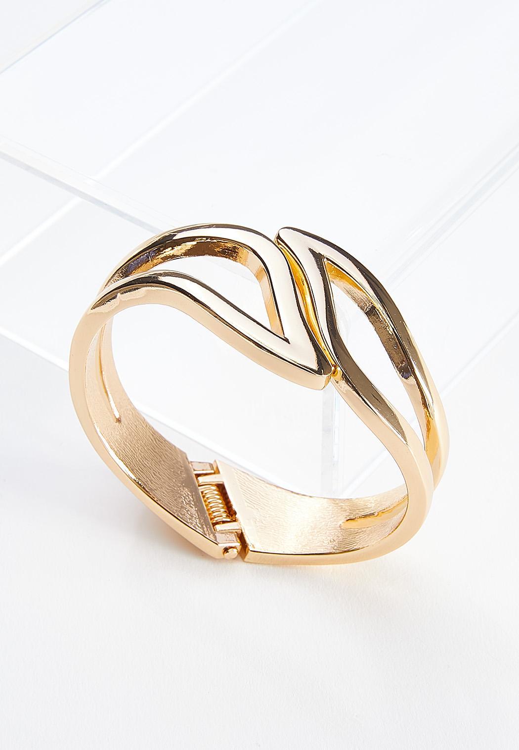 Curved Hinge Cuff Bracelet (Item #44589695)