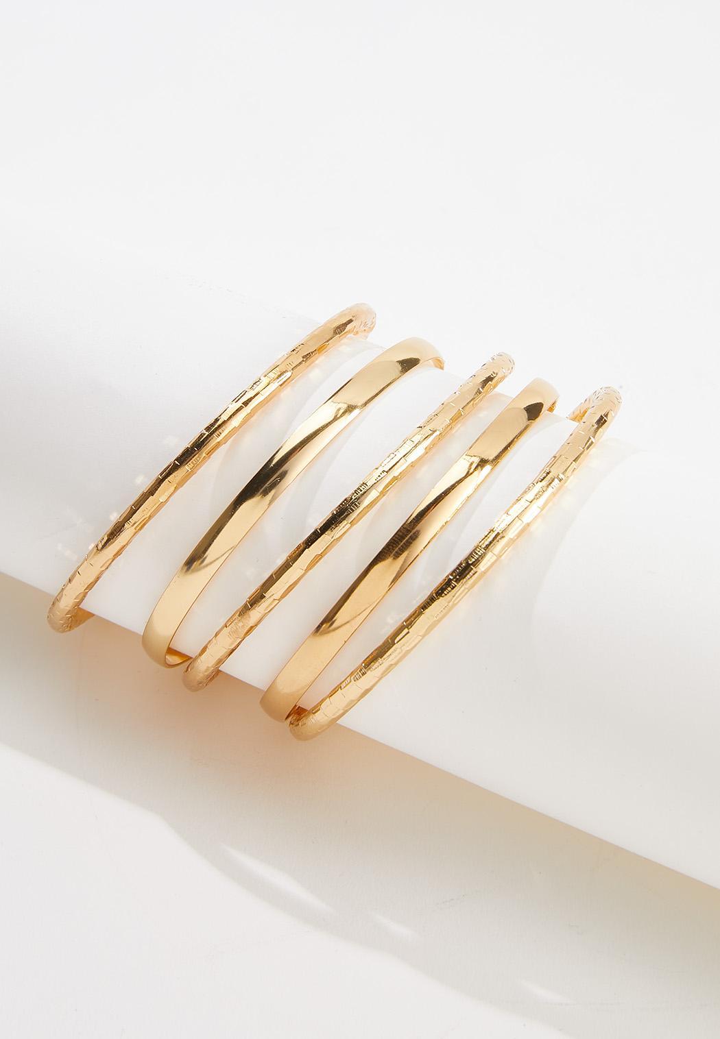 Textured Bangle Bracelet Set (Item #44589724)