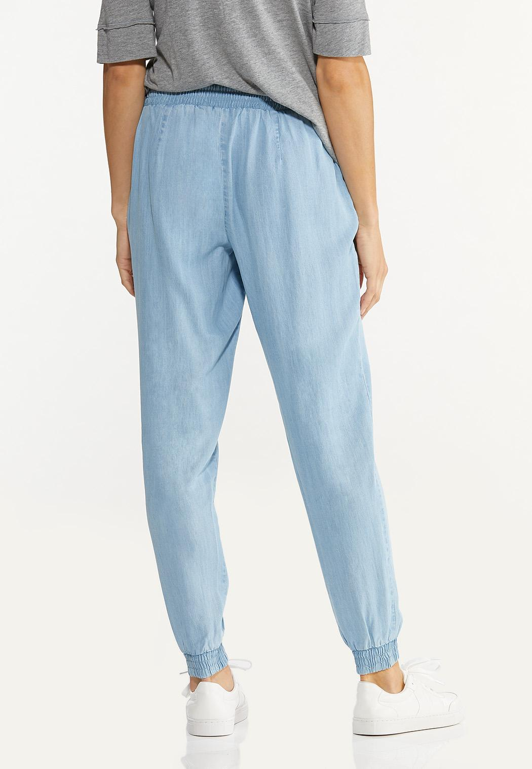 Petite Smocked Chambray Joggers (Item #44589853)