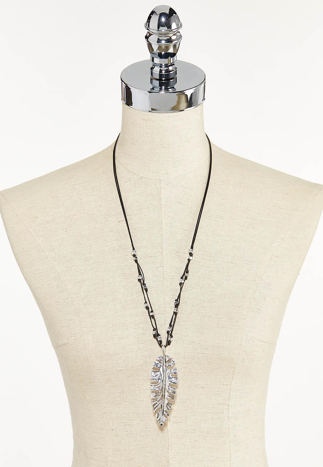 Large Feather Cord Necklace (Item #44589953)