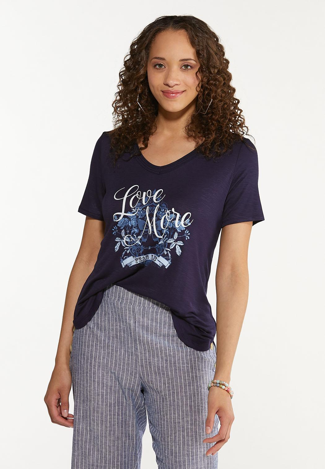Plus Size Love More Fear Less Tee (Item #44590677)
