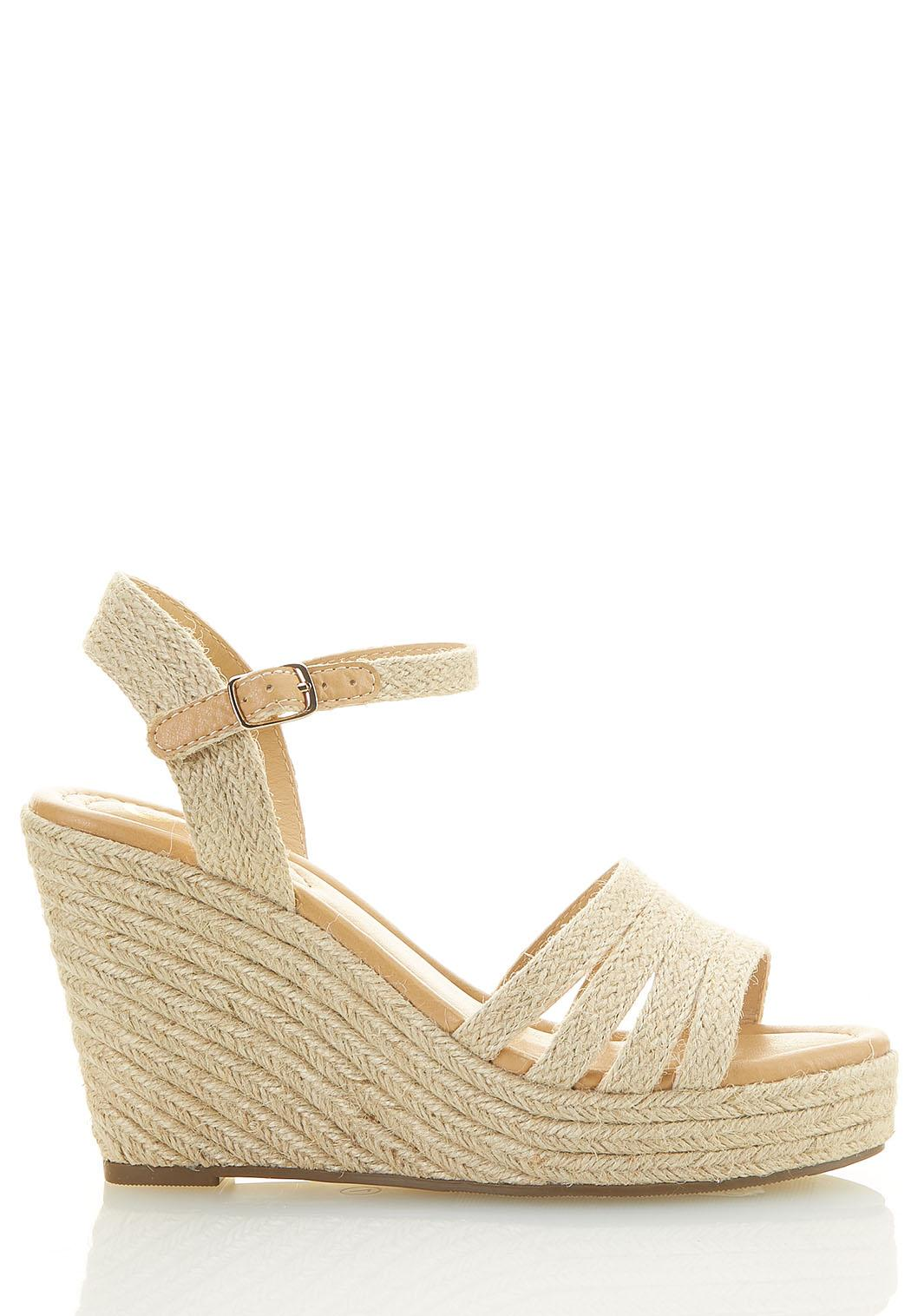 Wide Width Natural Woven Wedges (Item #44590746)