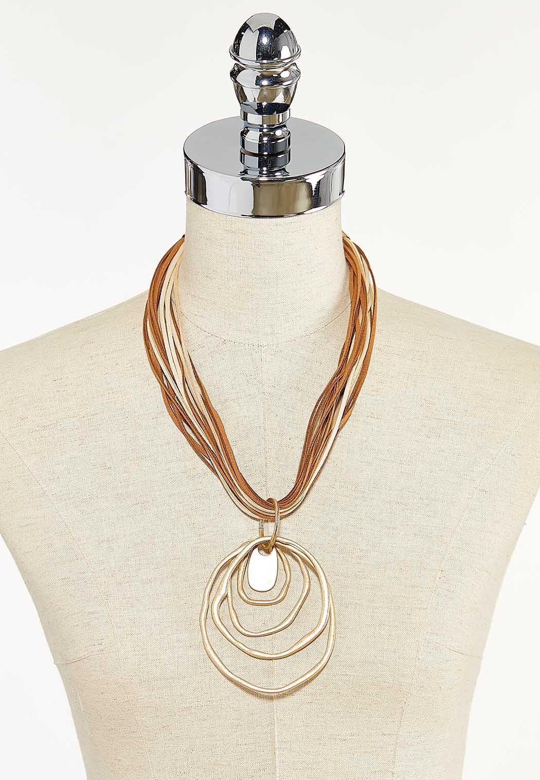 Corded Orbit Pendant Necklace (Item #44590747)
