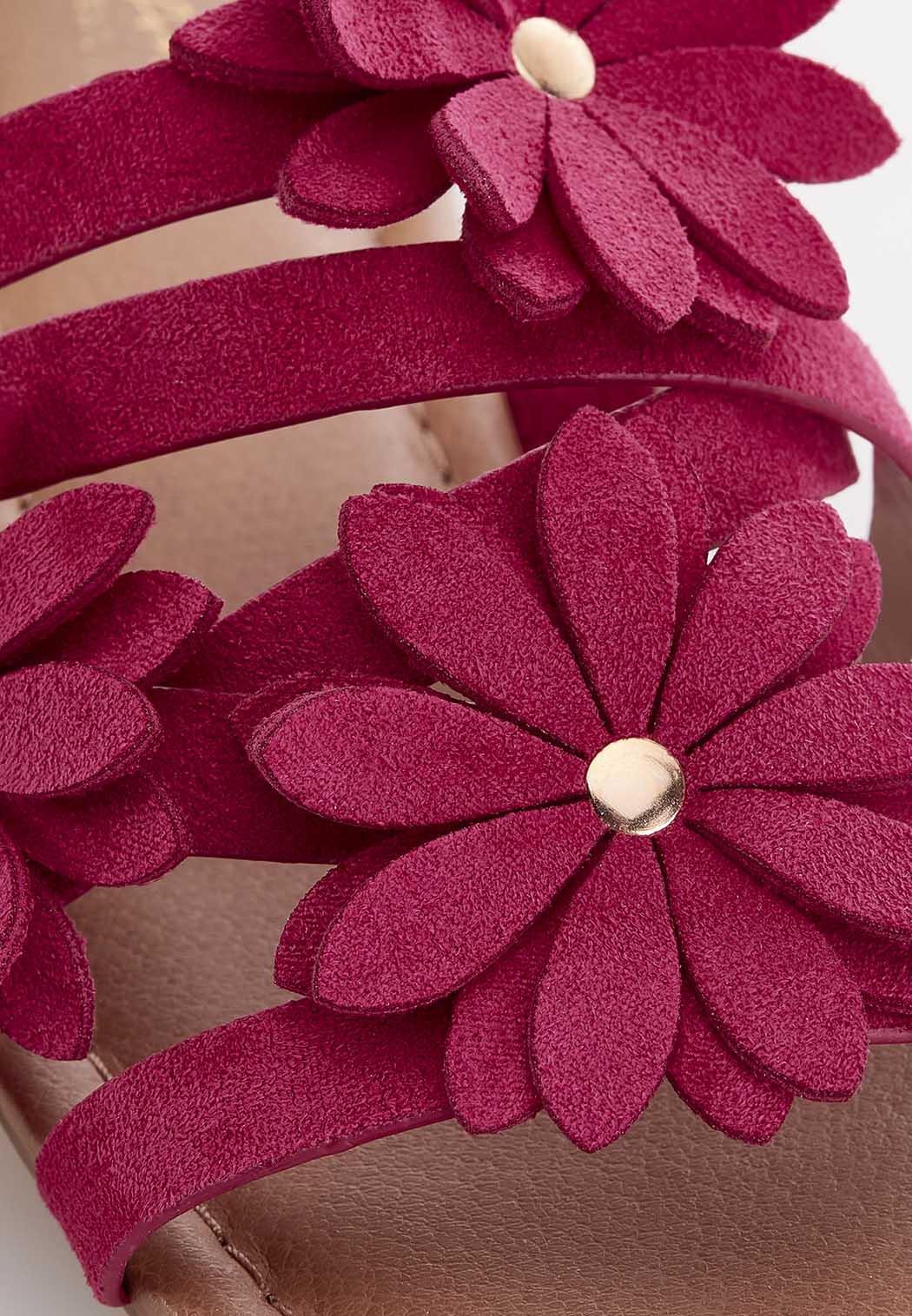 Wide Width Blooming Flower Slide Sandals (Item #44591012)