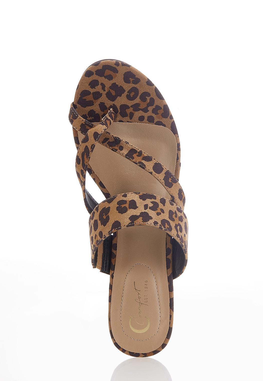 Leopard Low Heel Sandals (Item #44591171)