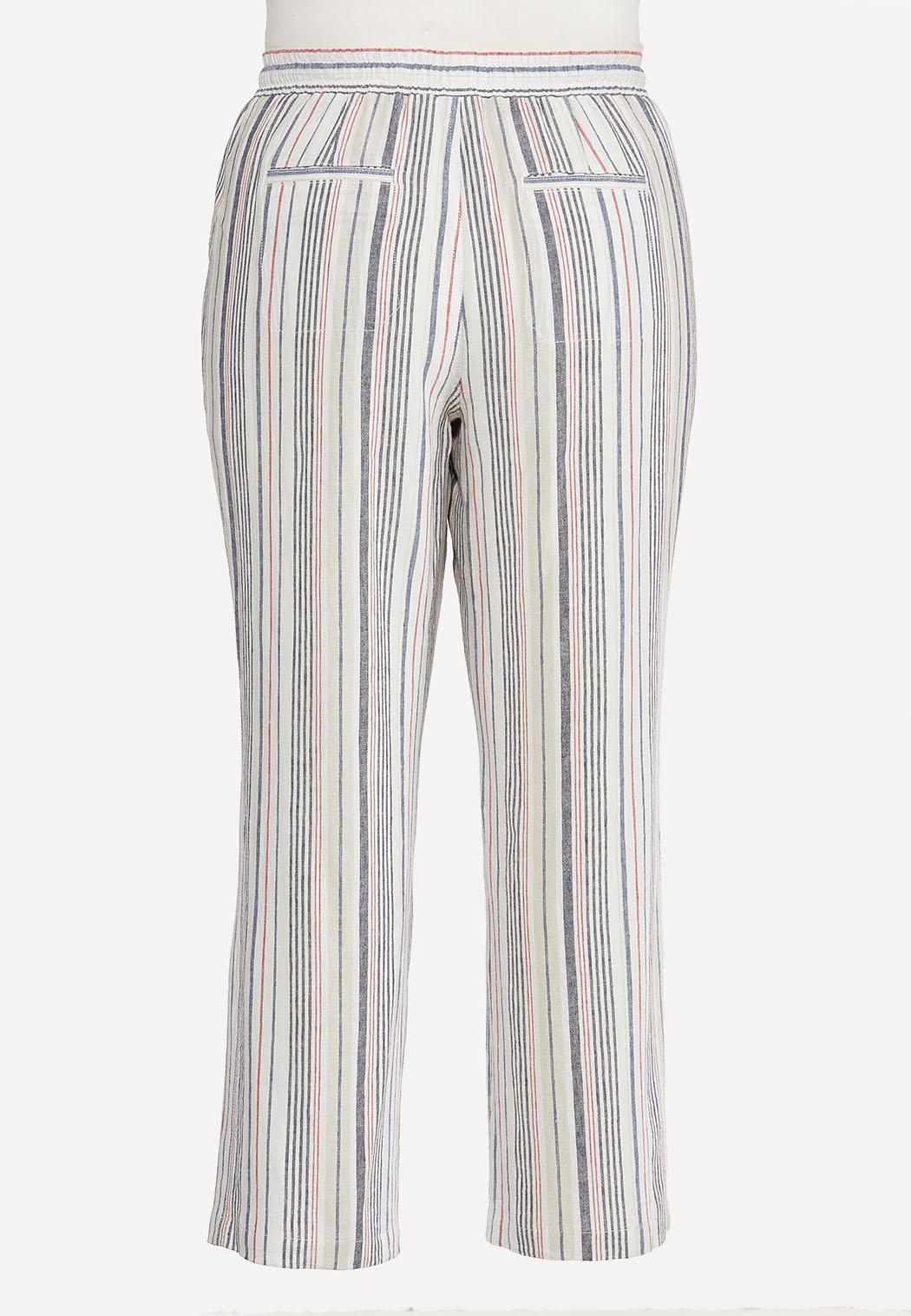 Plus Size Striped Palazzo Pants (Item #44591246)