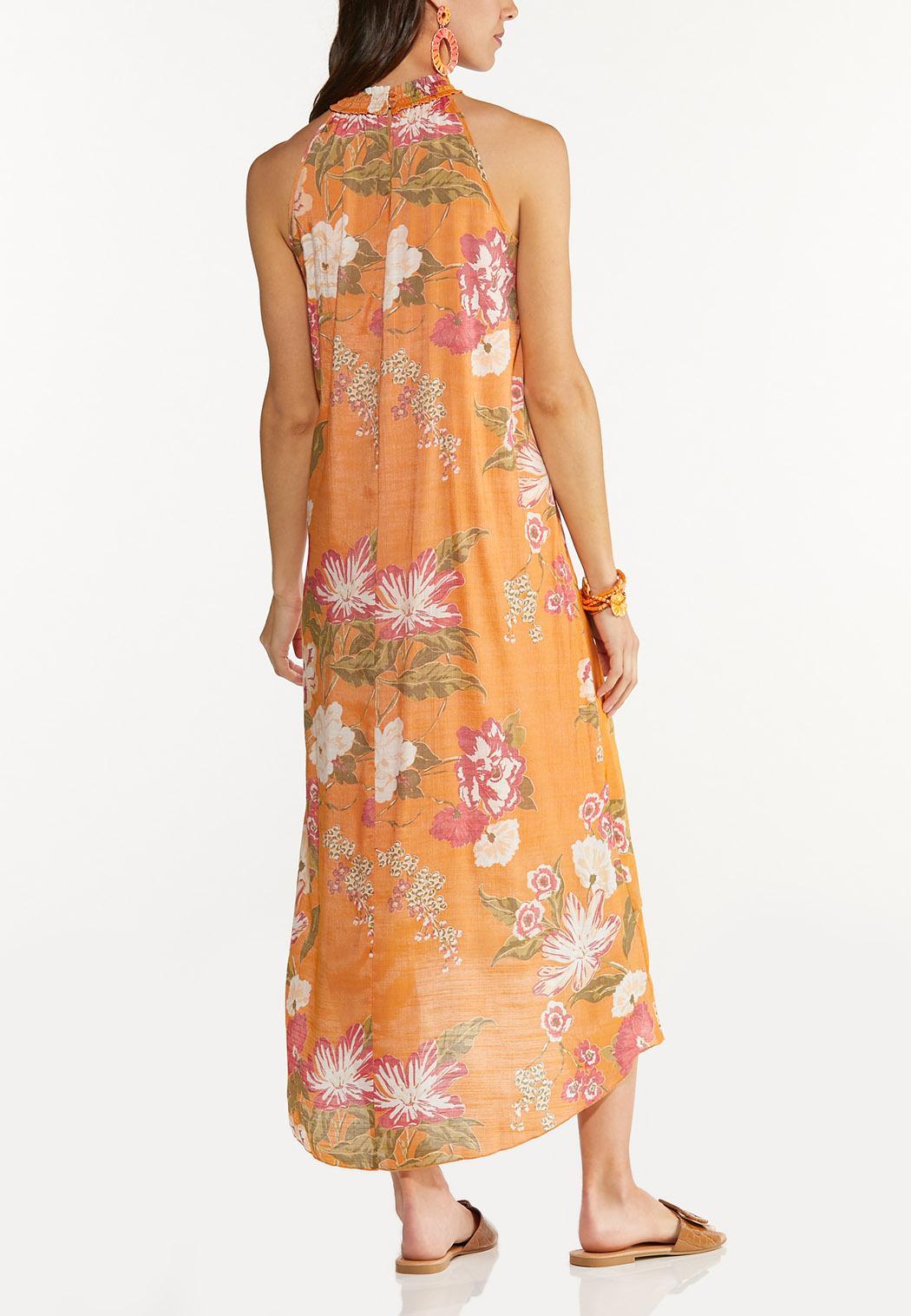 Tropical Smocked Maxi Dress (Item #44591616)